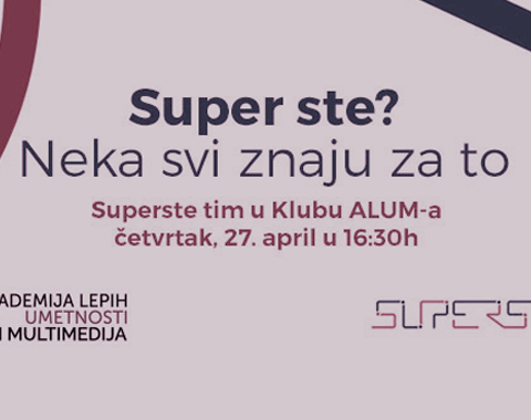 Superste tim u Klubu ALUM-a