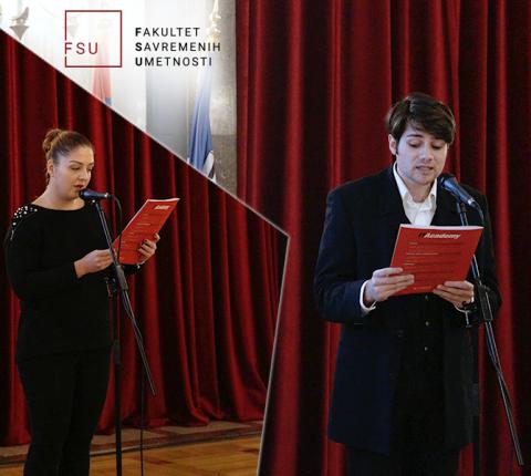 Studenti FSU govorili tekstove pesama u Skupštini Grada