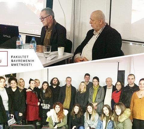 Brana Mitrović sa studentima FSU o sponi arhitekture i umetnosti
