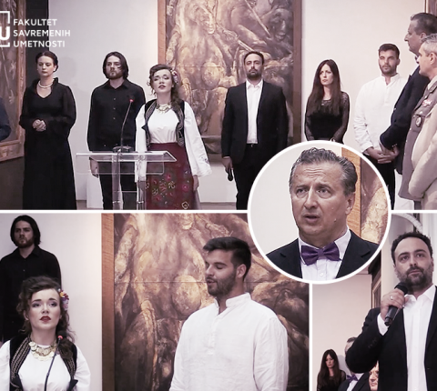 Studenti glume sa FSU uveličali otvaranje izložbe u Domu Vojske Srbije