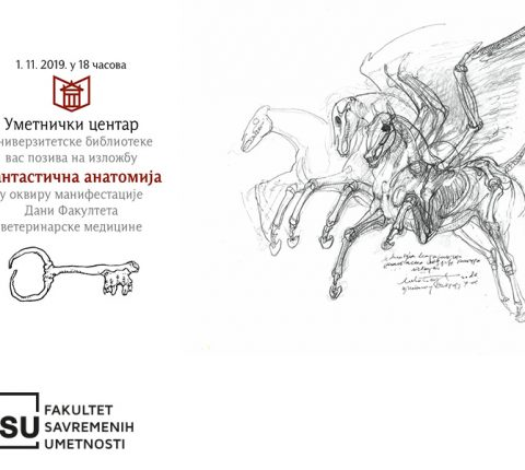 Fantastic Anatomy – Ružica Bajić Sinkević's exhibition at the University Library