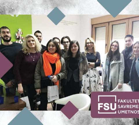 "Studenti FSU u poseti agenciji ""Chapter 4"""
