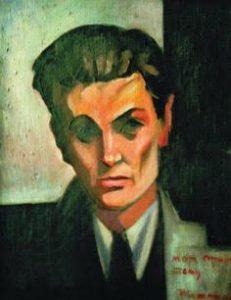 """Sava Šumanović, """"Portret Miloša Crnjanskog"""", 1921."""