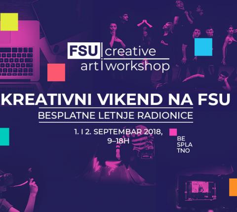 FSU vas poziva na vikend dobrih kreacija – dođite na besplatne art radionice 1. i 2. septembra