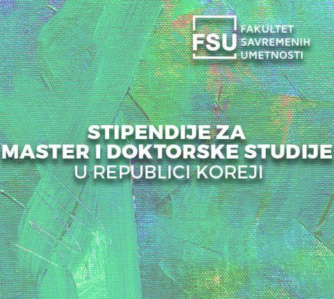 Stipendije Republike Koreje za master i doktorske studije
