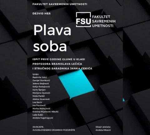 "Studentska predstava ""Plava soba"" na sceni Jugoslovenskog dramskog pozorišta"