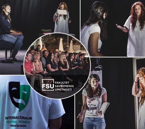 """Povelja """"Promenada"""" za FSU na Internacionalnom festivalu pozorišta u Vrnjačkoj Banji"""