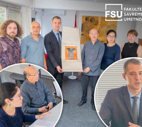 Delegacija iz Pekinga u poseti Fakultetu savremenih umetnosti u Beogradu