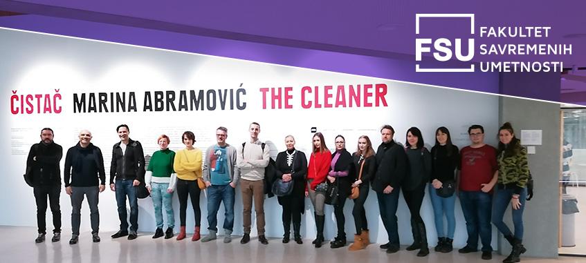 Studenti FSU na izložbi Marine Abramović