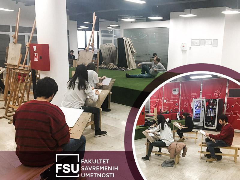 Polaznici besplatne škole crtanja na FSU
