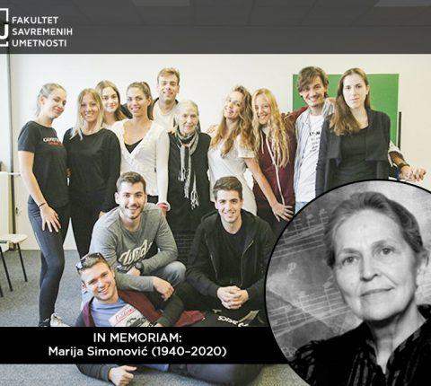 Sećanje studenata na profesorku Mariju Simnović