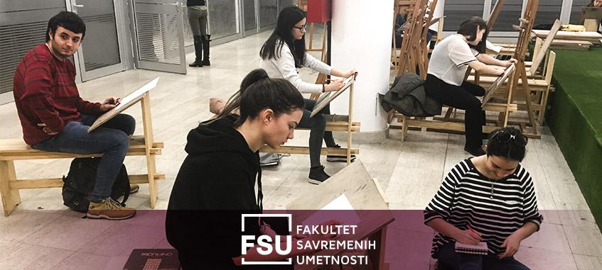 Umetnici na FSU crtaju različitim tehnikama