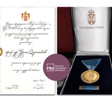 VELIKA ČAST: Profesor Uroš Dojčinović dobio zlatnu medalju za zasluge