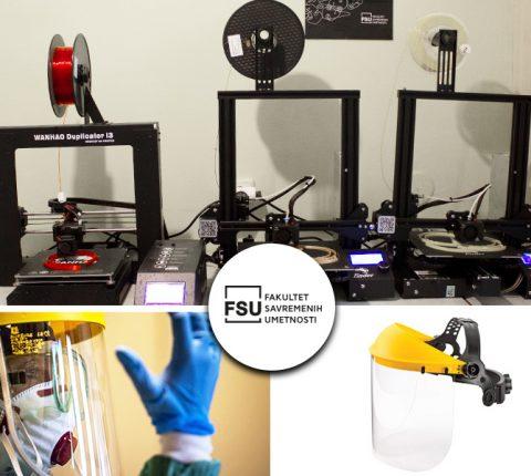 FSU pomoću 3D štampača pravi zaštitne maske za zdravstvene radnike