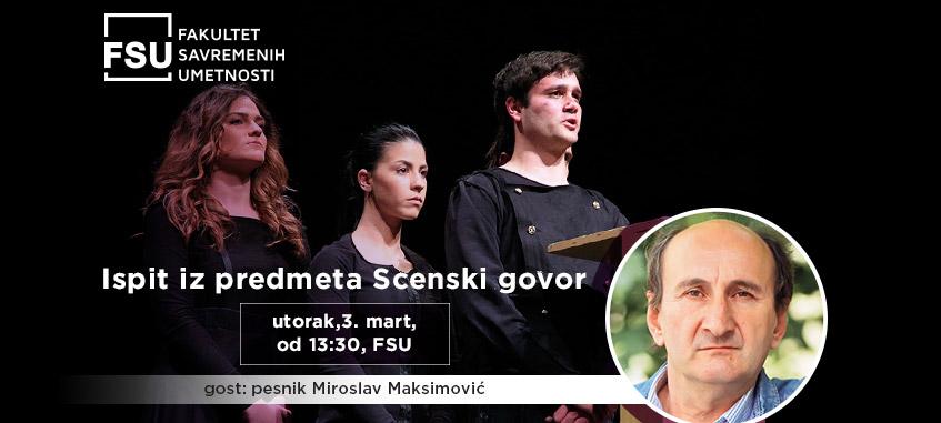 Miroslav Maksimović gost FSU