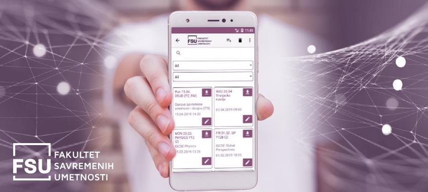 FSU mobilna aplikacija za praćenje predavanja