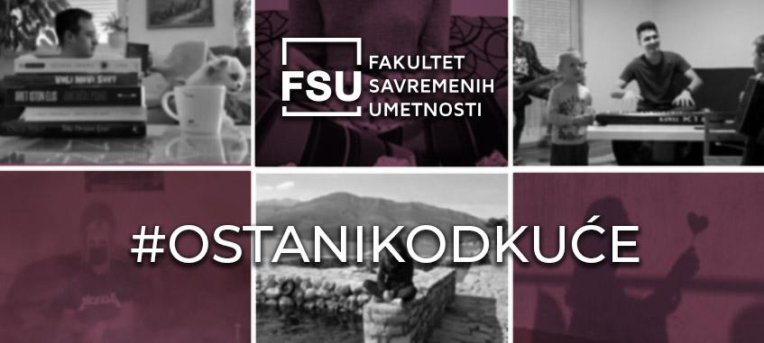 akcija studenata FSU #ostanikodkuće