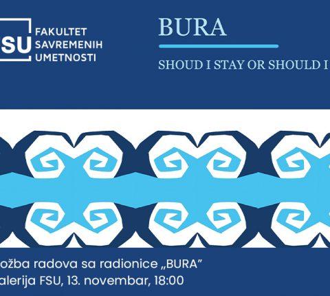 """Studentski radovi u saradnji sa umetničkom radionicom """"BURA"""" u Galeriji FSU"""