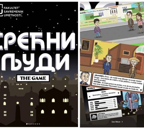 FCA student creates a video game based on the Srećni ljudi series