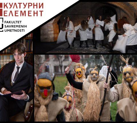 Studenti glume sa FSU snimali novogodišnji program u saradnji sa Muzejom grada Beograda