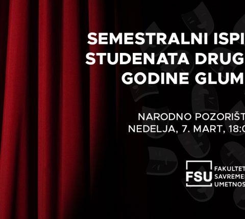 Predstava studenata druge godine glume u Narodnom pozorištu