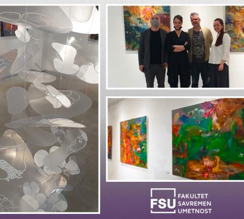 """Posetite izložbu u Galeriji FSU: """"Tri umetnika – tri sveta"""""""