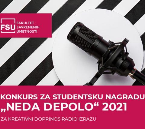 """KONKURS ZA STUDENTSKU NAGRADU """"NEDA DEPOLO"""""""