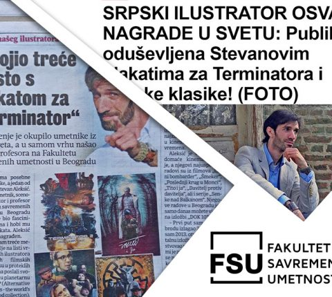 Veliki uspeh profesora FSU Stevana Aleksića: Međunarodna priznanja za njegove filmske plakate